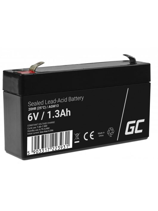 Green Cell AGM akkumulátor / akku VRLA 6V 1.3 Ah