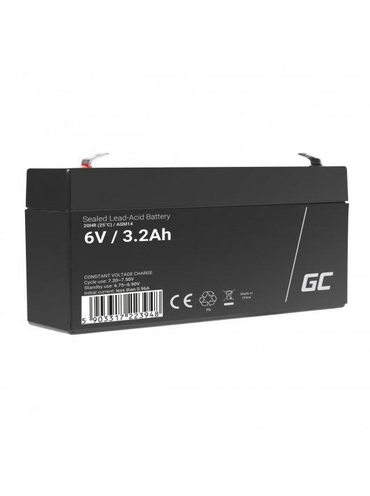 Green Cell AGM akkumulátor / akku VRLA 6V 3.3 Ah