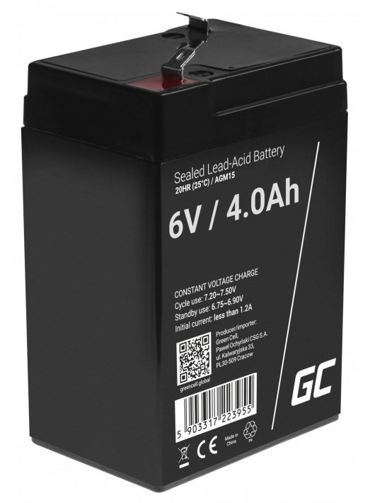 Green Cell AGM akkumulátor / akku VRLA 6V 4 Ah
