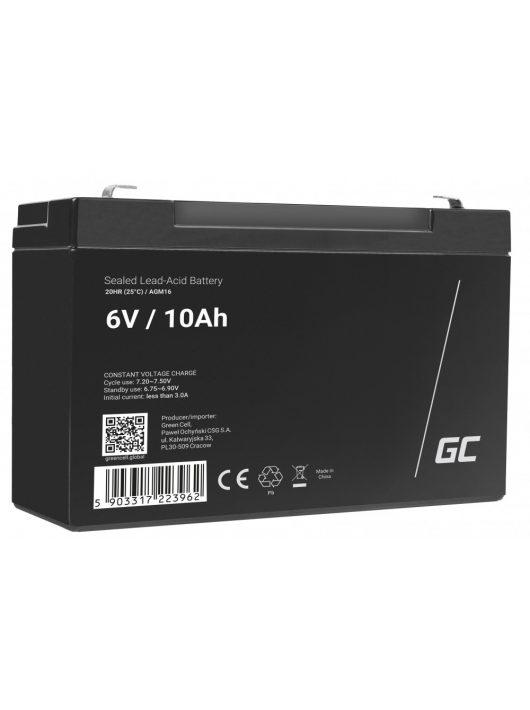 AGM akkumulátor / akku VRLA 6V 10 Ah AGM16