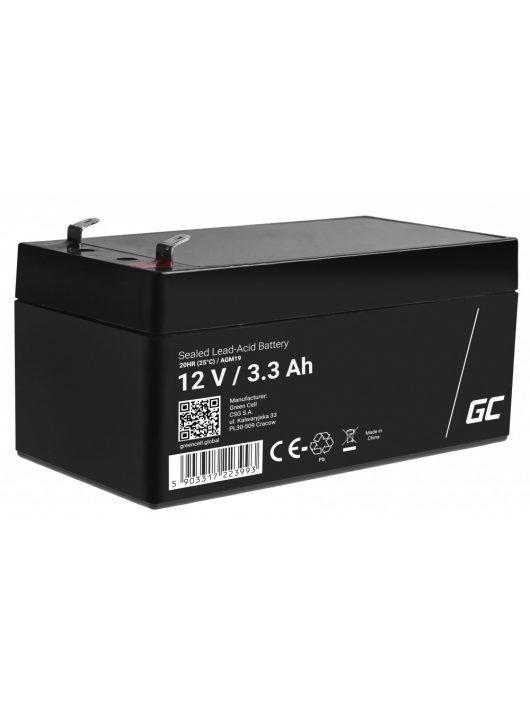 AGM akkumulátor / akku VRLA 12V 3.3 Ah AGM19