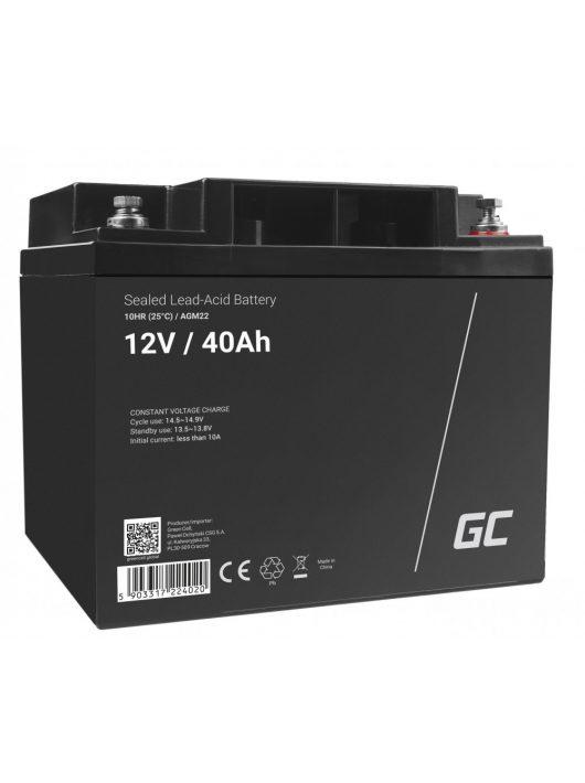 Green Cell AGM akkumulátor / akku VRLA 12V 40 Ah