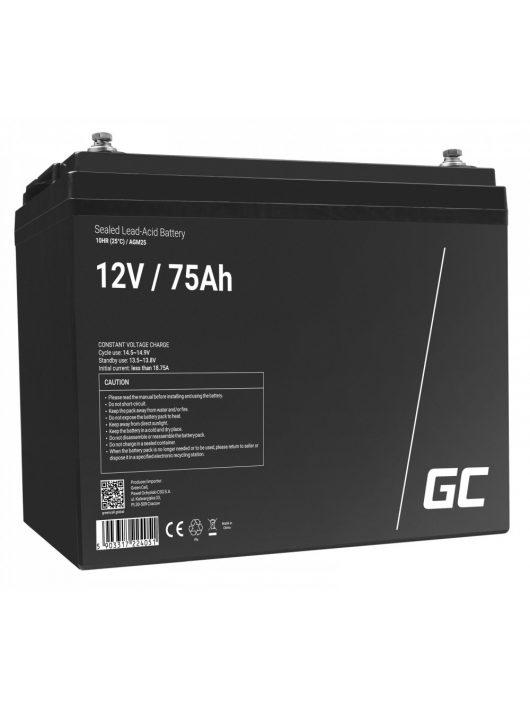Green Cell AGM akkumulátor / akku VRLA 12V 75 Ah