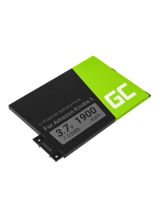 Green Cell E-Book akkumulátor / akku 170-1032-01 Amazon Kindle 3 Keyboard 2010 D00901