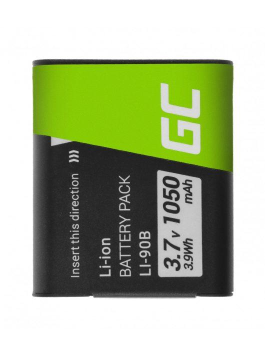 Green Cell kamera akkumulátor / akku Li-90B/Li-92B Olympus Tough TG-1 TG-2 TG-3 TG-Tracker Stylus SH-1 SP-100 XZ-2 VoiSquare 3.7V 105