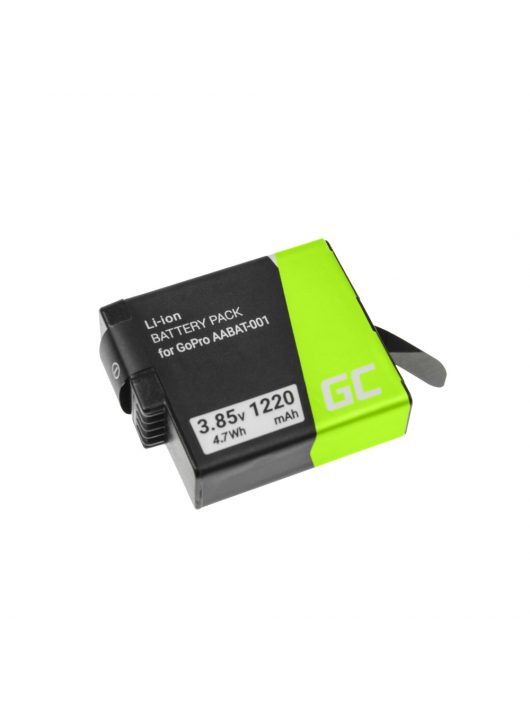 Green Cell kamera akkumulátor / akku AHDBT-501 AABAT-001 GoPro HD HERO5 HERO6 HERO7 Black 3.85V 1220mAh