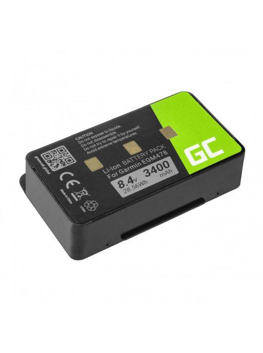 Green Cell GPS akkumulátor / akku 010-10517-00 011-00955-00 GPS Garmin GPSMAP 276 296 376 376c 396 495 496