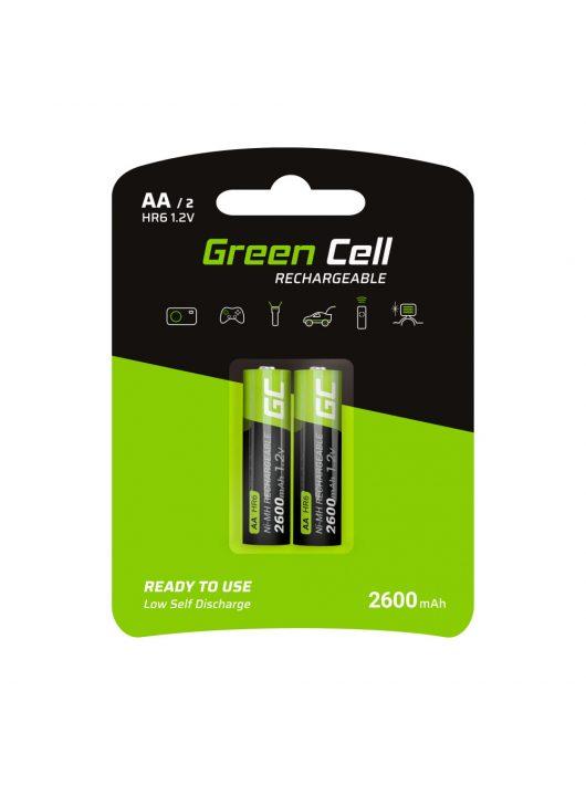 Green Cell akkumulátor / akku 2x AA HR6 2600mAh