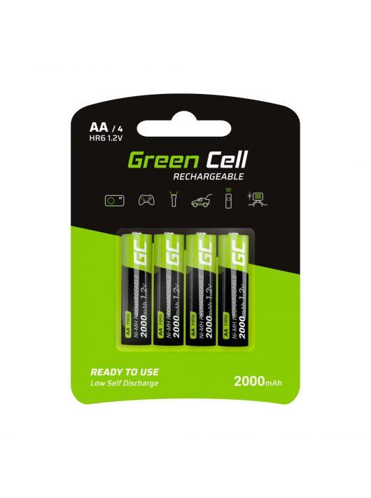 Green Cell akkumulátor / akku 4x AA HR6 2000mAh