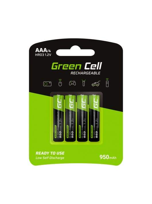 Green Cell 4x akkumulátor / akku AAA HR03 950mAh