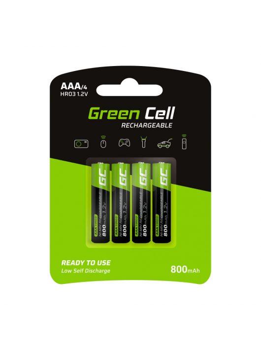 Green Cell 4x akkumulátor / akku AAA HR03 800mAh