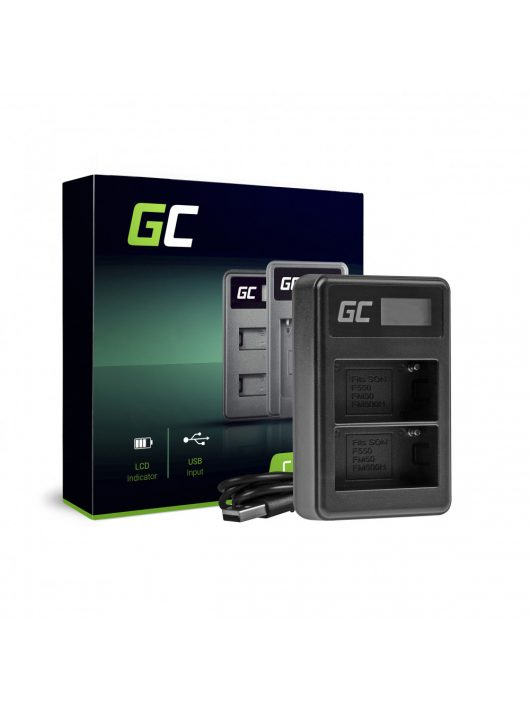 Green Cell hálózati töltő BC-V615 AC-VL1 Sony A58, A57, A65, A77, A99, A900, A700, A580, A56,0 A55,0 A850, SLT A99 II
