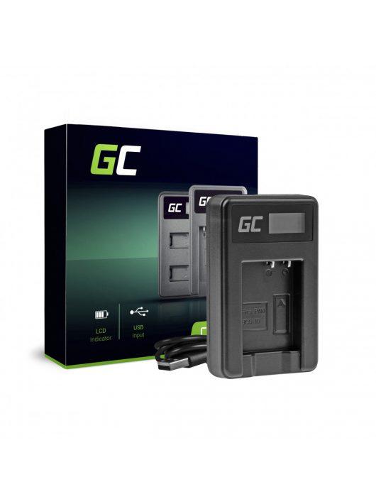 Green Cell hálózati töltő DE-A65BB Panasonic DMW-BCG10 Lumix DMC-TZ10 DMC-TZ20 DMC-TZ30 DMC-ZS5 DMC-ZS10 DMC-ZX1