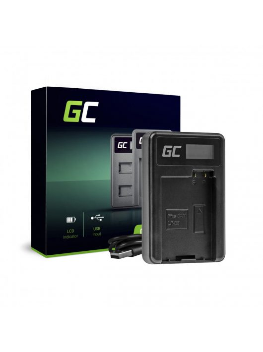 Green Cell hálózati töltő LC-E8 Canon LP-E8 EOS Rebel T2i, T3i, T4i, T5i, EOS 600D, 550D, 650D, 700D, Kiss X5, X4, X6