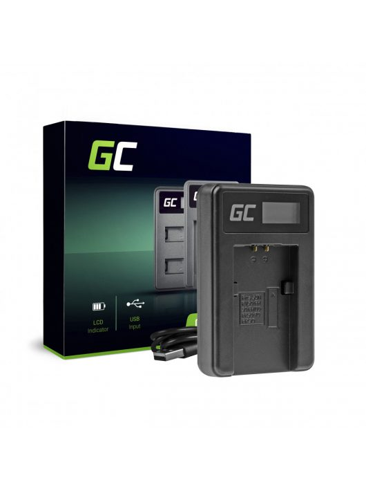 Green Cell hálózati töltő BC-TRP Sony NP-FH50 DCR-HC45, DCR-SR300E, DCR-SR70, DCR-SX50E