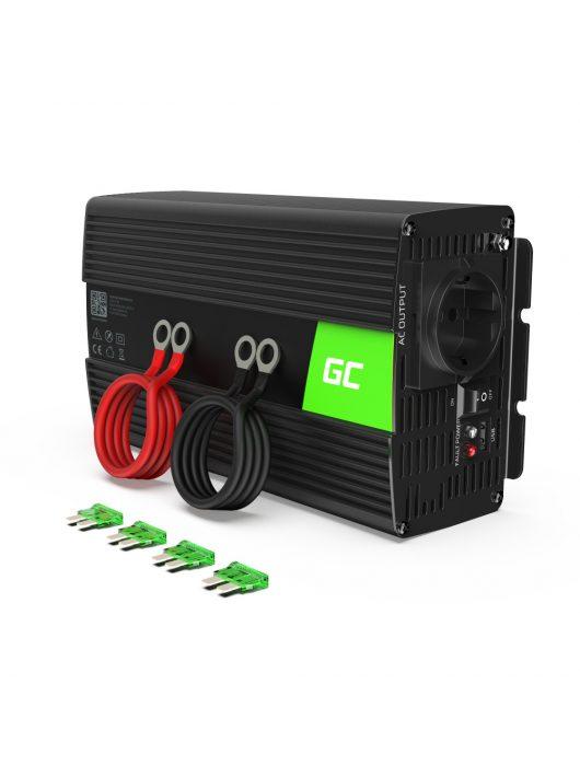 Green Cell Autós feszültség átalakító 24V-ról 230V-ra 1000W, tiszta szinuszhullám