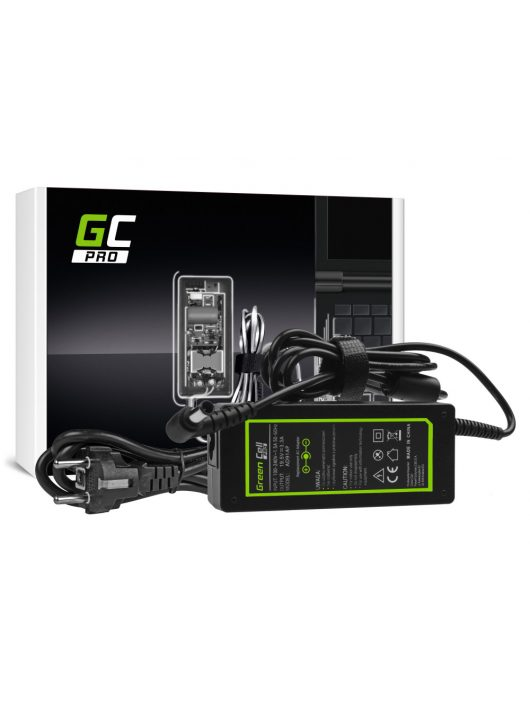 Green Cell Pro Laptop hálózati töltő Sony Vaio SVF14 SVF15 SVF152A29M SVF1521C6EW SVF15AA1QM 19.5V 3.34A 65W