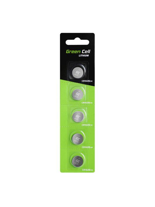5x Líthium Green Cell CR1620 3V 70mAh elem