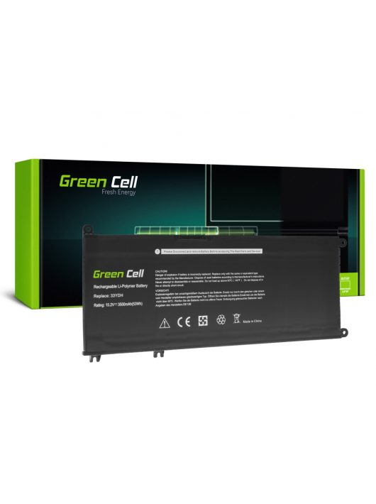 Green Cell Laptop akkumulátor / akku 33YDH Dell Inspiron G3 3579 3779 G5 5587 G7 7588 7577 7773 7778 7779 7786 Latitude 3380 3480 3490 3590