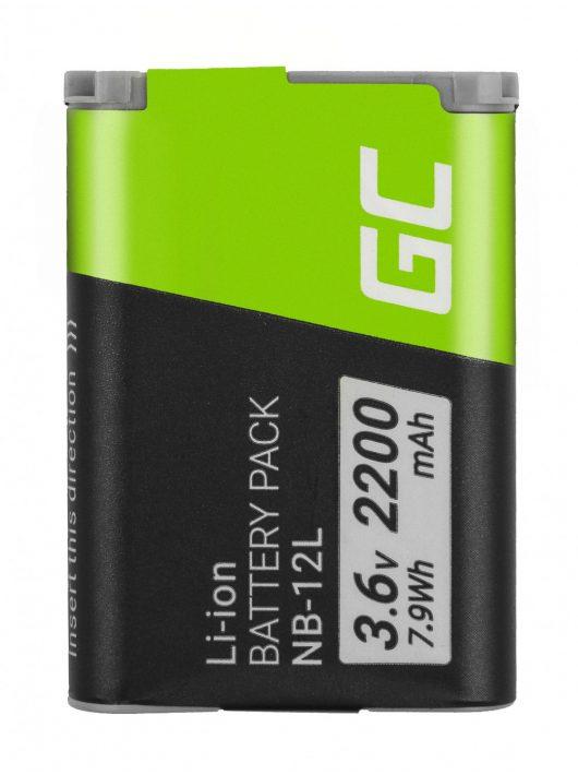 Green Cell Digitális kamera akkumulátor / akku NB-12L NB12L Canon Powershot G1 X Mark II, N100, LEGRIA mini X 3.6V 2200mAh