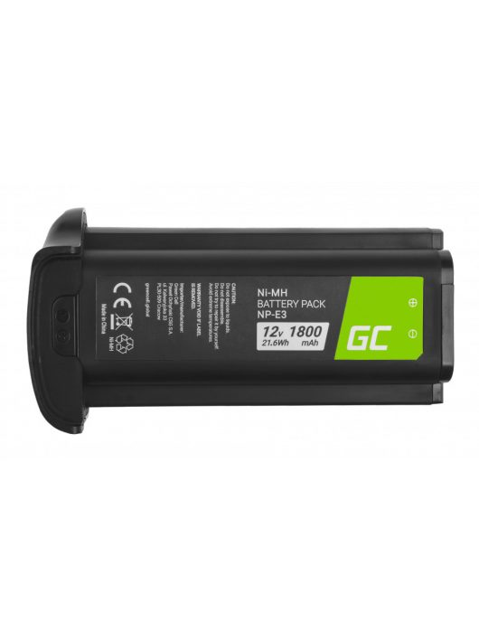 Green Cell Digitális kamera akkumulátor / akku NP-E3 NPE3 Canon EOS-1D Mark II, Canon EOS-1Ds Mark II 12V 1800mAh