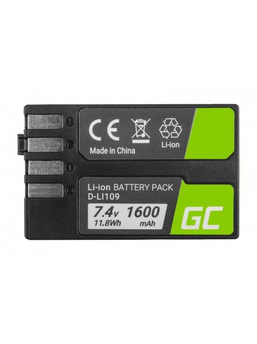 Telefon akkumulátor / akku D-Li109 DLi109 Pentax K-r, K-2, K-30, K-50, K-500, K-S1, K-S2 7.4V 1600mAh