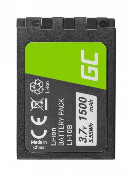 Green Cell Digitális kamera akkumulátor / akku Li-10B LI-10B Olympus Stylus 300, ľ 800, Camedia X-2 3.7V 1500mAh