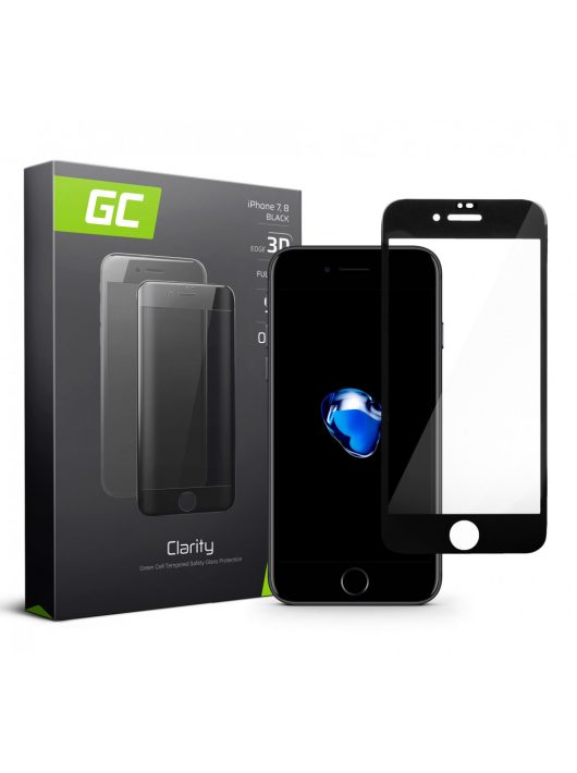 GC kijelzővédő üvegfólia Apple iPhone 7 8 - Black GL03