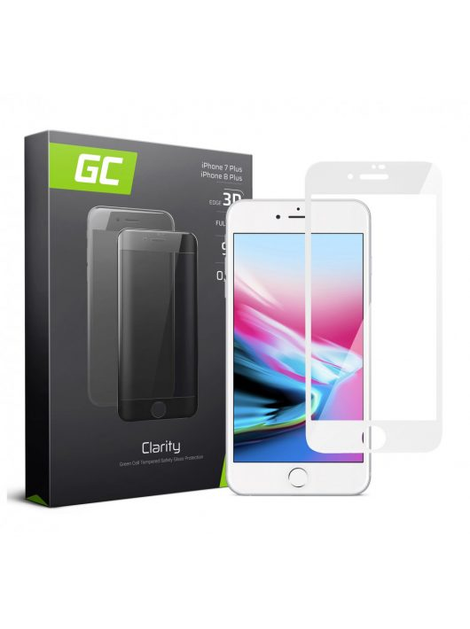 GC kijelzővédő üvegfólia Apple iPhone 7 Plus, 8 Plus - White