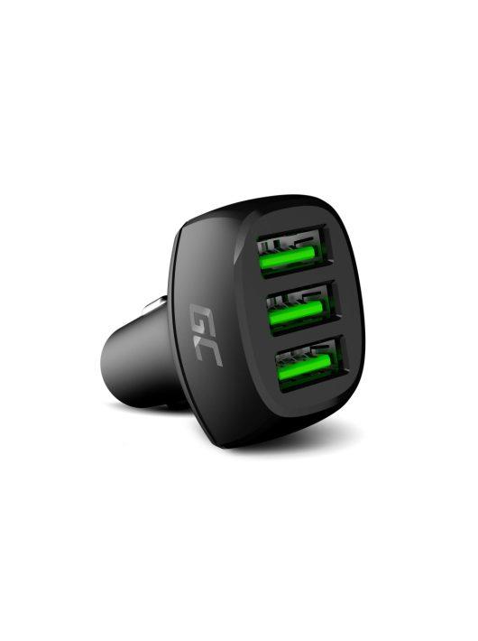 Green Cell Autós töltő GC PowerRide 54W 3xUSB 18W Ultra gyors töltés technológiával