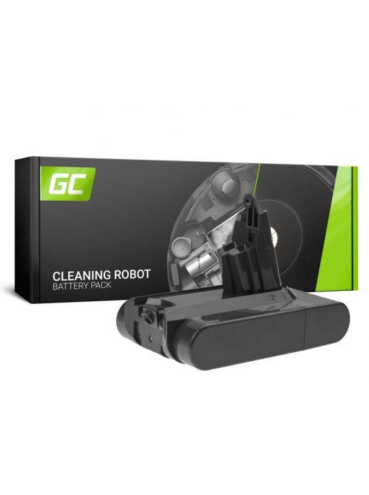 Green Cell akkumulátor / akku (3Ah 21.6V) 967810-02 209432-01 209472-01 Dyson V6 DC58 DC59 DC61 DC62 DC72 DC74