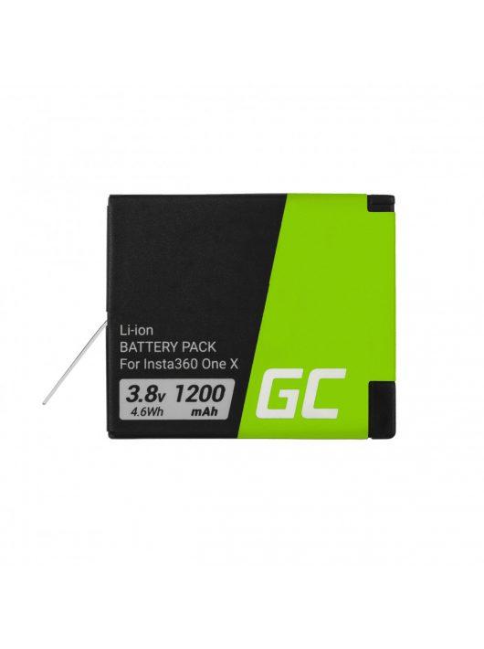Green Cell Digitális kamera akkumulátor / akku Instax INSTA360 ONE X 3.8V 1200mAh