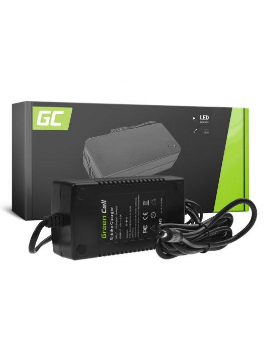 Green Cell 42V 2A Elektromos kerékpár töltő 36V Li-Ion akkumulátorhoz / akkuhoz