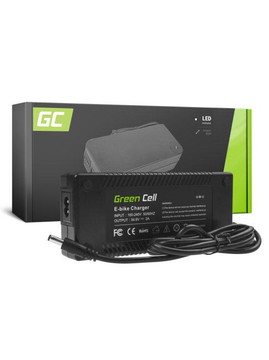 Green Cell 54.6V 2A Elektromos kerékpár töltő 48V Li-Ion akkumulátorhoz / akkuhoz