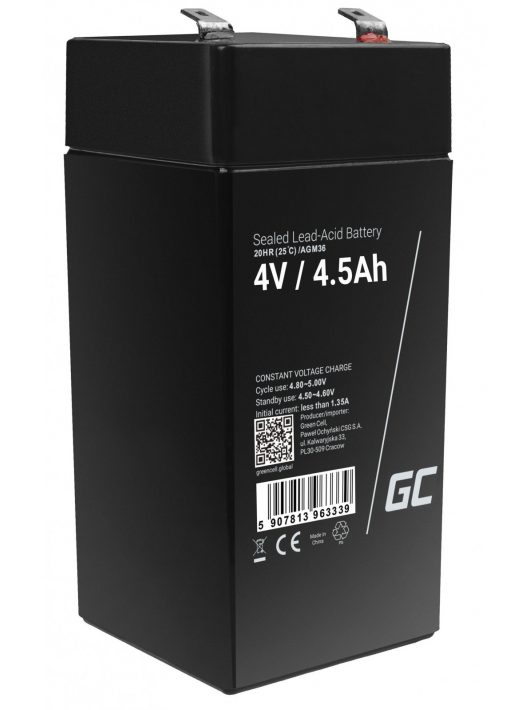 Green Cell AGM akkumulátor/akku 4V 4.5Ah