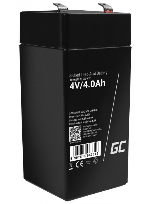 Green Cell AGM akkumulátor/akku 4V 4Ah