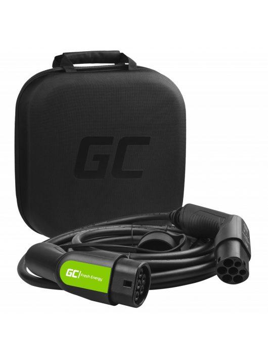 Green Cell Type 2 kábel elektromos autók töltésére (7 m, 22 kW, 32A)