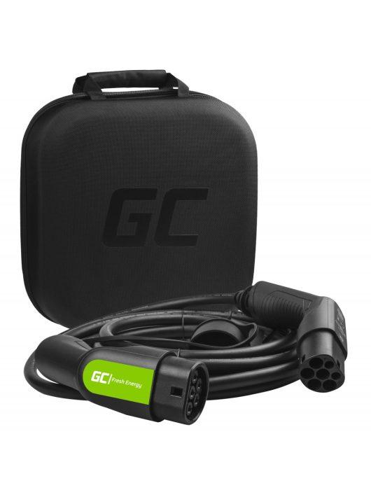 Green Cell Type 2 kábel elektromos autók töltésére (7 m, 7.2 kW, 32A)