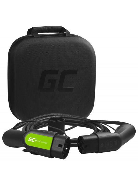 Green Cell Type 2 kábel elektromos autók töltésére (5 m, 3.6 kW, 16A)