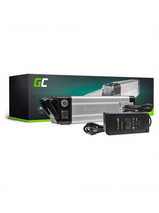 Green Cell Elektromos kerékpár akkumulátor / akku 24V 8.8Ah Silverfish Type E-Bike Pedelec töltővel