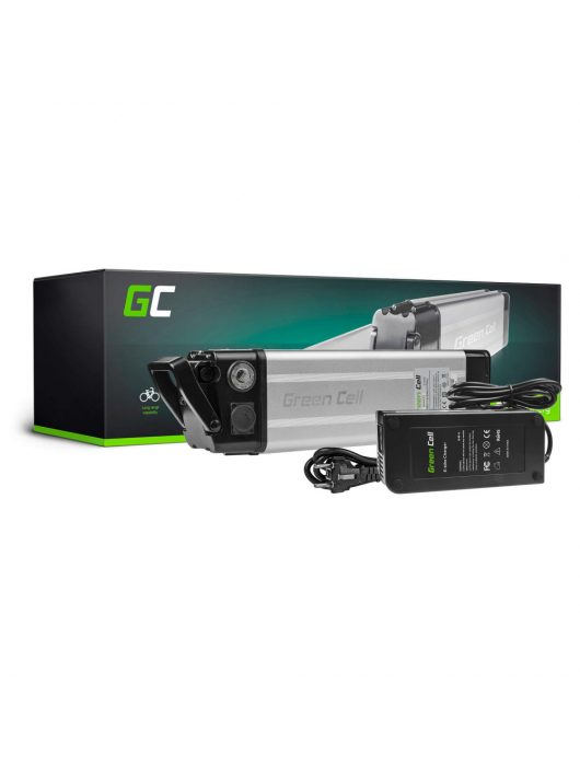 Green Cell Elektromos kerékpár akkumulátor / akku 36V 8.8Ah Silverfish Type E-Bike Pedelec töltővel