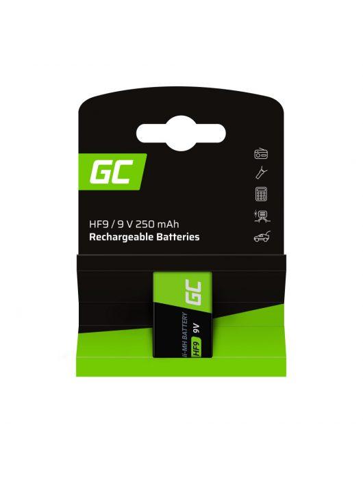 Green Cell akkumulátor / akku 1x 9V HF9 Ni-MH 250mAh