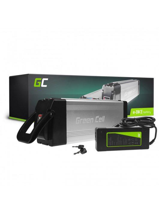 Green Cell Elektromos kerékpár akkumulátor / akku 24V 15Ah Silverfish Type E-Bike Pedelec töltővel