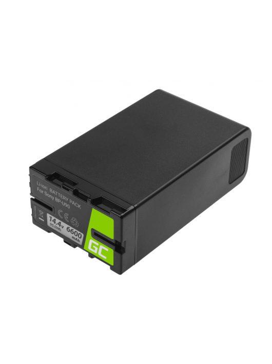 Green Cell Digitális kamera akkumulátor / akku BP-U90 BP-U60 BP-U30 Sony 6600mAh 95Wh 14.4V