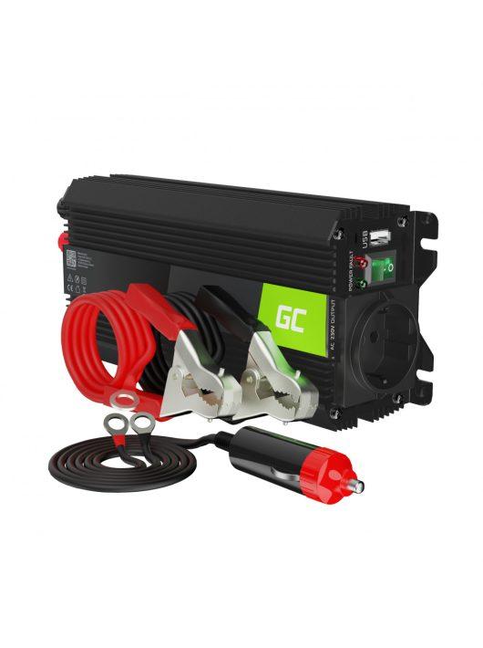 Green Cell Autós Teljesítmény Inverter 24V-ról 230V-ra (feszültség növelő) 500W / 1000W USB-vel