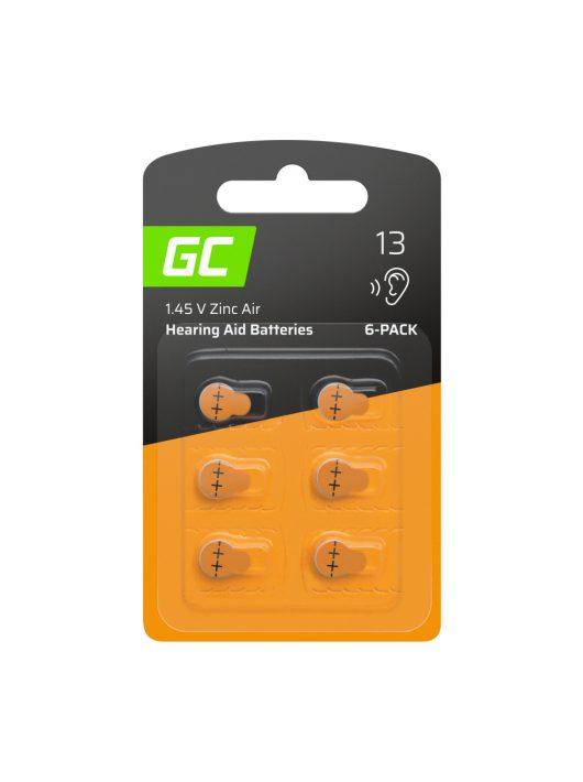 6x Green Cell hallókészülék elem Type 13 P13 PR48 ZL2 Cink levegő típus