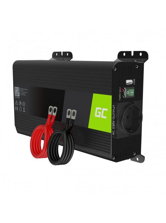Autós Teljesítmény Inverter 12V-ról 230V-ra (feszültség növelő) 500W / 1000W tiszta szinusz