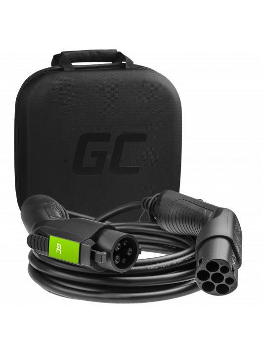 Green Cell Type 1 kábel elektromos autók töltésére (5 m, 3.6 kW, 16A)