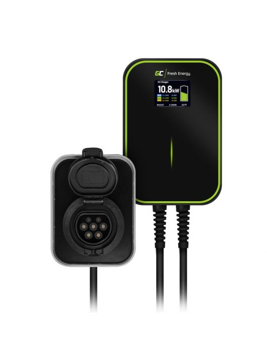 Falitöltő GC EV PowerBox 22kW hálózati töltő Type 2 kábellel tölthető elektromos autókhoz és Plug-In hybridekhez