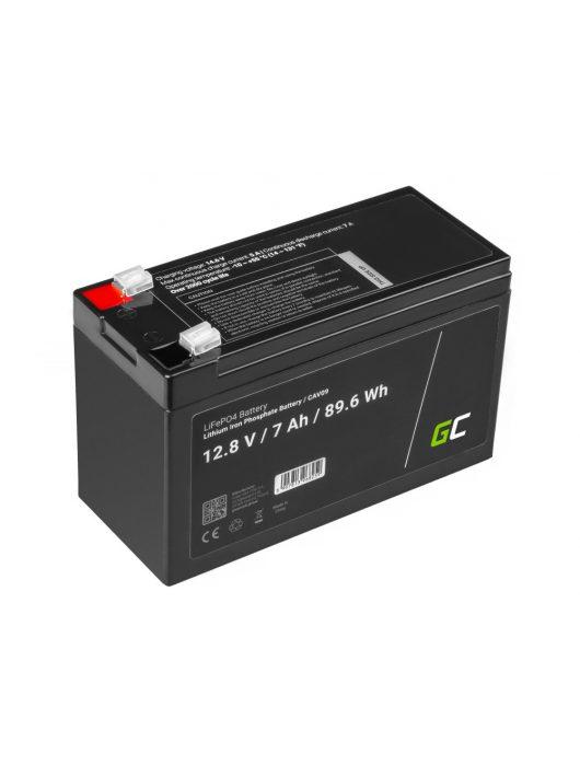akkumulátor/akku LiFePO4 7Ah 12.8V 89.6Wh lithium iron foszfát, fotovoltaikus, napelemes rendszerű kempingautóhoz CAV09
